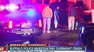 Buffalo police investigating overnight crash - Video