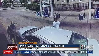 Pregnant Illinois woman tries to stop carjackers - Video