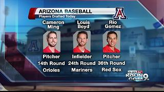 Arizona Widcats taken in MLB draft - Video