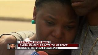 Sylville Smith's family reacts to the not guilty verdict - Video