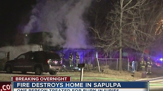 Fire destroys home in Sapulpa - Video