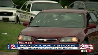 Neighborhood hangs on to hope after shooting - Video