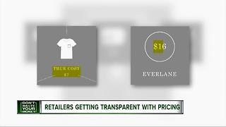 Retailers getting transparent with pricing - Video