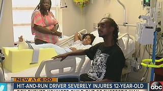 Hit-and-run driver severely injures 12-year-old boy - Video