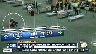 Family suing Alaska Airlines after airport death - Video