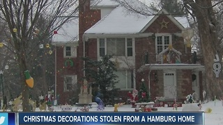 Decorations stolen from a Hamburg home - Video
