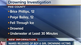 Twelve year old boy and girl die after falling through icy pond