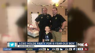 Lee County Sheriff's Office throw birthday party for 6 year old boy - Video