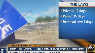 Deadline approaching for political sign removal - Video