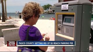 Pasco Co. getting rid of $2 beach parking fee - Video