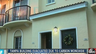 Tampa condos evacuated due to carbon monoxide - Video