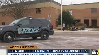 Teen at Arundel High School arrested for racially motivated tweet - Video