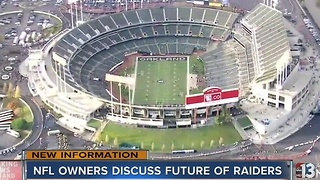 NFL owners taking time to consider options related to Oakland Raiders - Video
