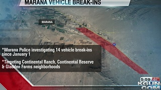 Marana neighborhoods seeing increase in vehicle break-ins - Video