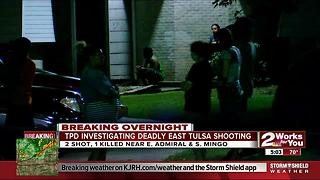 Tulsa Police investigate homicide in East Tulsa - Video