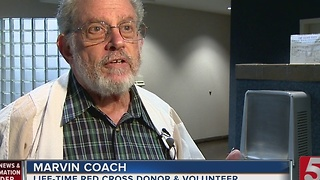 Local Man Gives 100th Blood Donation - Video