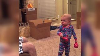 Cute Baby Gets Adorably Mad At Dad - Video