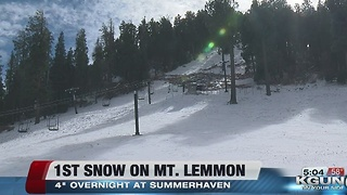 First snow brings optimism on Mt. Lemmon - Video