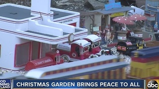 Train garden in Pasadena brings peace to all - Video