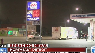 Man shot and killed near gas station on Detroit's northeast side