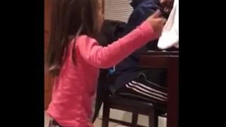 Little girl argues with her dad about dating - Video