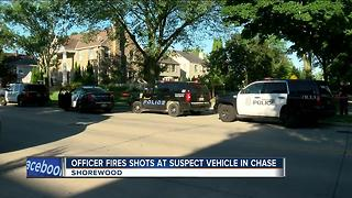 Officer fires shots at suspect vehicle in Shorewood chase - Video