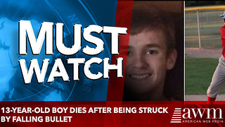 13-Year-Old Boy Dies After Being Struck by Falling Bullet - Video