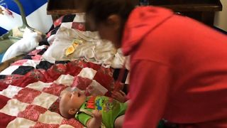 Baby Only Laughs For Mommy - Video