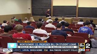 Montgomery County bill on student loans proposed - Video