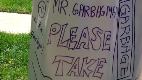 Dear Mr. Garbage Man, please take me!