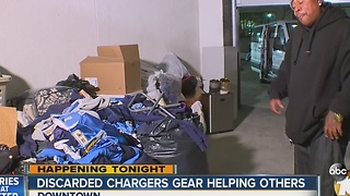 Discarded Chargers gear helping others - Video