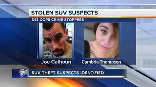 Suspects identified in stolen car case - Video
