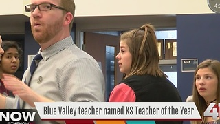 Blue Valley teacher named KS Teacher of the Year - Video