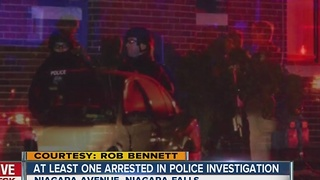 At least one arrested in police investigation - Video