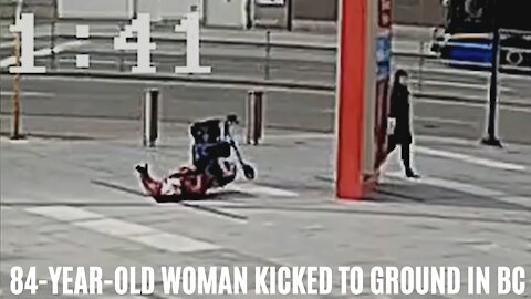 Disturbing Video Shows A Random Person Pushing An 84-Year-Old Woman Off Her Walker In BC