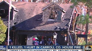 1 killed, 1 hurt in Carroll County house fire - Video