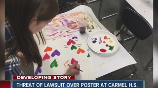 Controversial poster causes problems at Carmel High School - Video