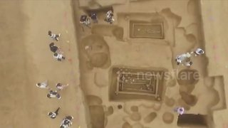 Archaeologists find 5,000-year-old remains of 'giants' in China - Video
