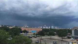 Microburst Wind Forms Over Austin, Texas - Video