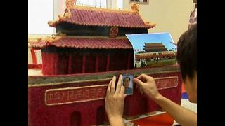 Tiananmen Square Made Of Human Hair - Video