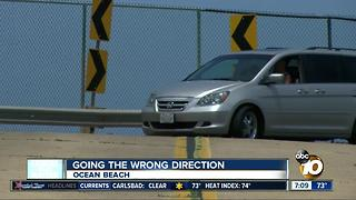Going the wrong direction in Ocean Beach - Video