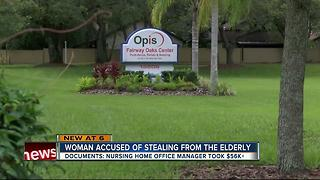 Woman accused of stealing from elderly