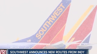 Southwest Airlines announces new routes from Indianapolis - Video
