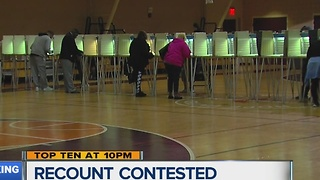 Michigan recount contested