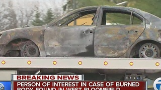 Person of interest in burned body case