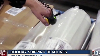 Holiday shipping deadlines and prices for Las Vegans - Video