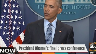 President Obama talks plans for future in final press conference - Video