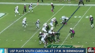 USF plays South Carolina at 2PM in Birmingham - Video