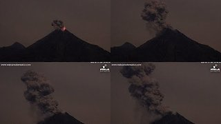 Mexico's Colima Volcano Erupts - Video