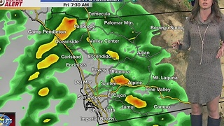 Megan's Friday Forecast: Most widespread rain through the morning - Video